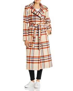 Notes du Nord - Megan Plaid Wool-Blend Coat