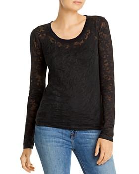 rag & bone - Floral Burnout Long-Sleeved Top