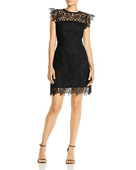 MILLY - Leila Floral Lace Illusion Dress