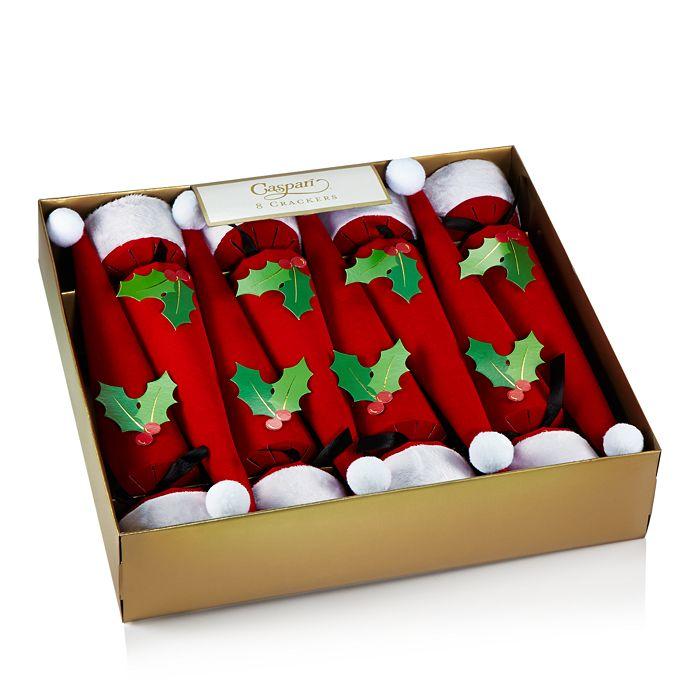 Caspari - Santa Hat Crackers, Box of 8