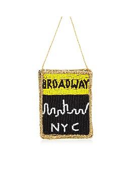 Sudha Pennathur - Broadway Playbill NYC Beaded Ornament