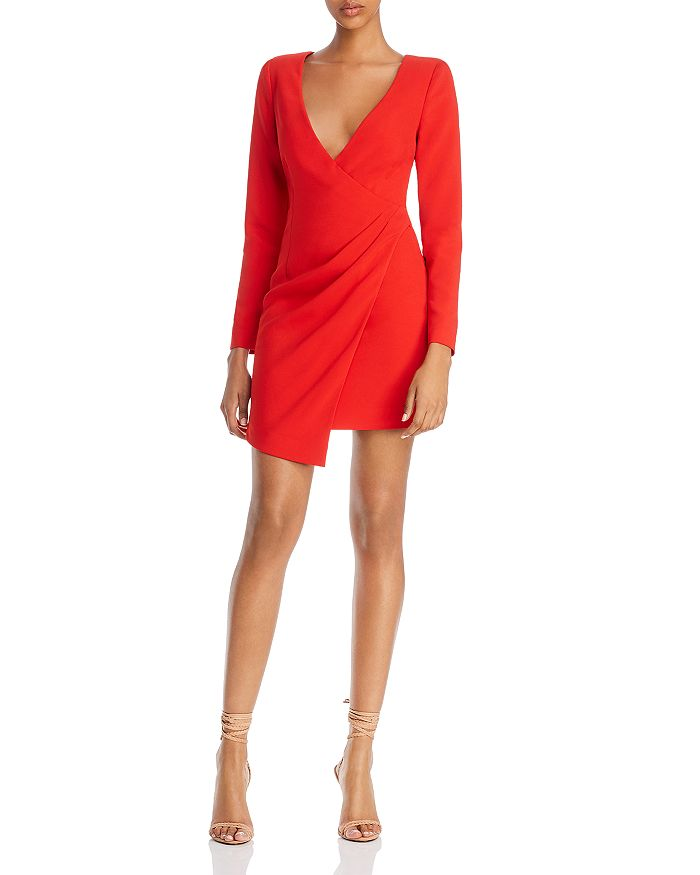 LIKELY - Dani Pleated Asymmetric Mini Dress