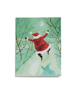 Design Design - Leaping Santa Greeting Card, Box of 20
