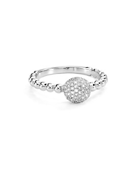 Bloomingdale's - Diamond Round Ring in Sterling Silver, 0.22 ct. t.w. - 100% Exclusive