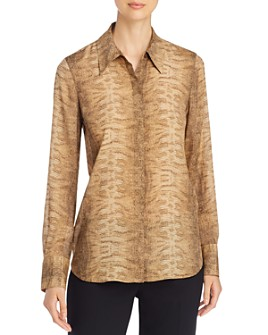 Lafayette 148 New York - Julianne Snake Print Blouse