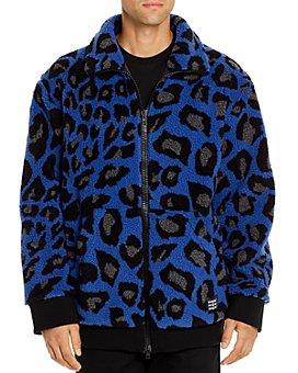 MSGM - Giubbino Peacock Leopard-Print Sherpa Jacket