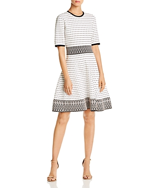 Shoshanna Dresses MESA TUNNEL-EMBROIDERED ZIGZAG DRESS