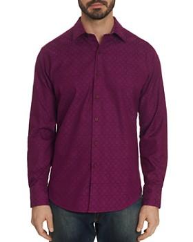 71b54ea55efa6 Robert Graham - Keaton Tile-Pattern Classic Fit Shirt ...
