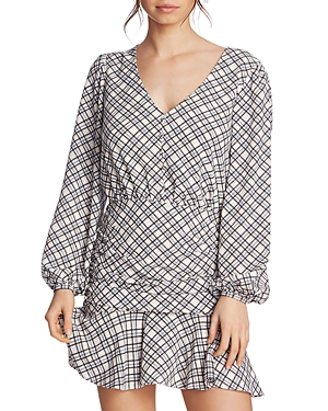 1.state Ruched Plaid Dress