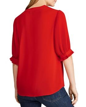 Ralph Lauren - Micro-Pleated V-Neck Georgette Top