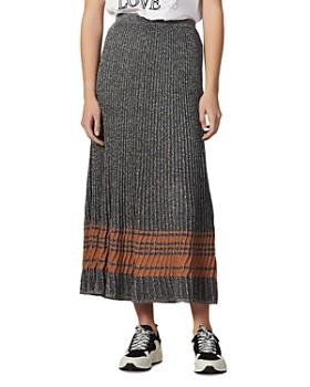 Sandro - Sloane Metallic Ribbed Maxi Skirt