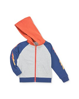 Mini Series - Boys' Lightning Bolt Zip-Up Hoodie, Little Kid - 100% Exclusive