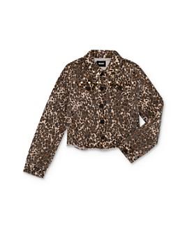 Hudson - Girls' Leopard Print Denim Jacket - Big Kid