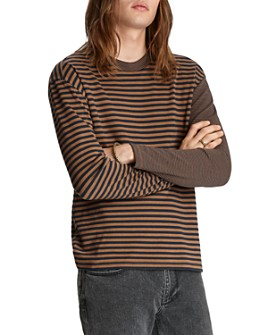 John Varvatos Collection - Mixed-Stripe Easy Fit Tee