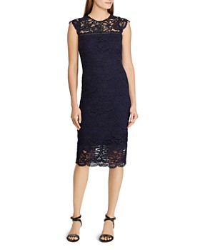 Ralph Lauren - Lace Cap-Sleeve Sheath Dress