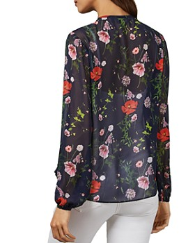Ted Baker - Valntia Hedgerow-Print Blouse