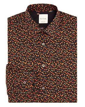 Paul Smith - Gents Poppy Print Regular Fit Dress Shirt
