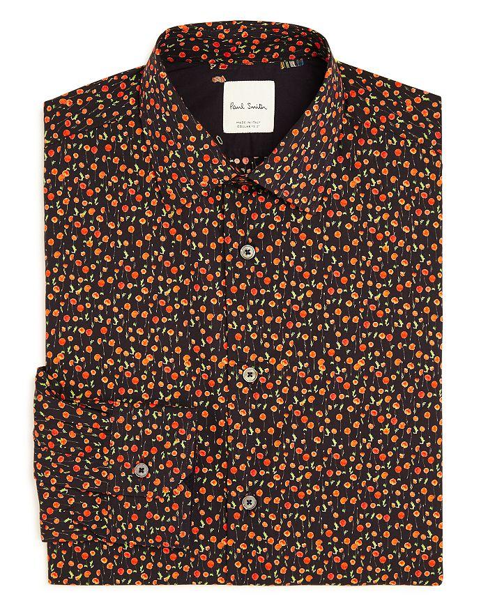 Paul Smith - Soho Poppy Print Slim Fit Dress Shirt