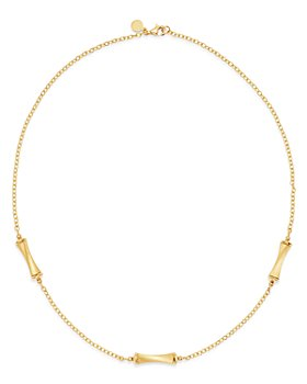 "Bloomingdale's - Bamboo Station Necklace in 14K Yellow Gold, 18"" - 100% Exclusive"