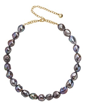 """BAUBLEBAR - Lacey Dyed Natural Pearl Statement Necklace, 15"""""""