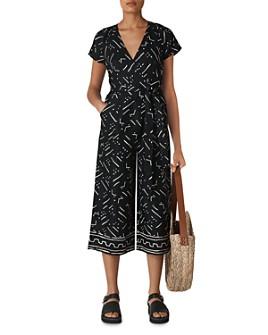 Whistles - Kuba Printed Linen Jumpsuit