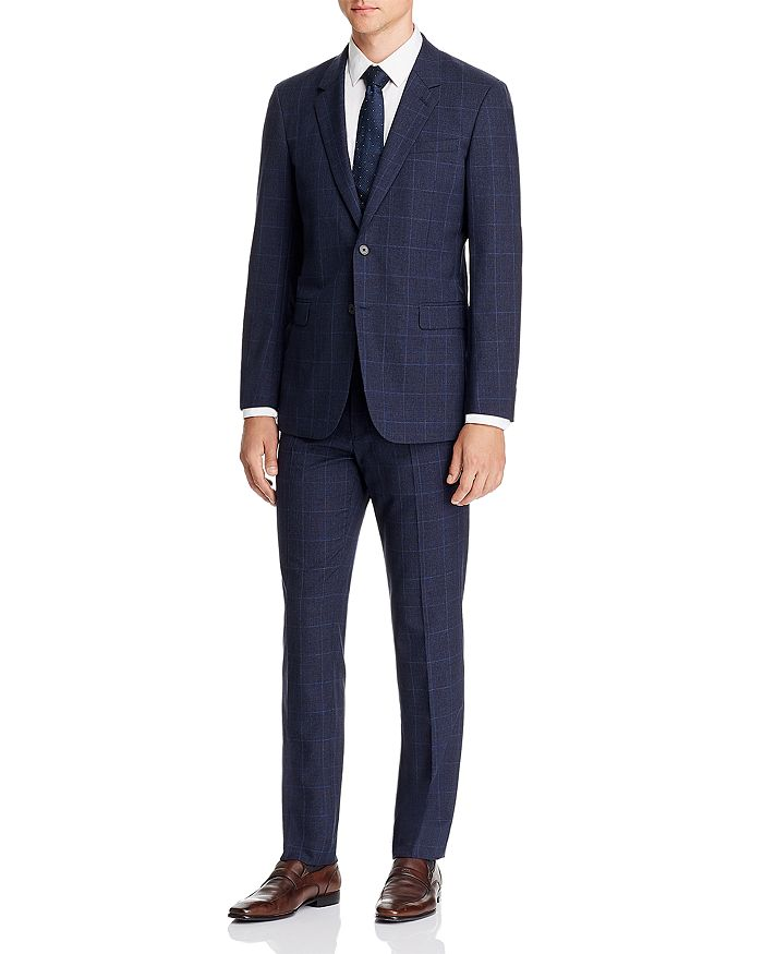 Theory - Mayer Tonal Plaid Slim Fit Suit Separates