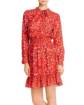 Sam Edelman - Printed Tie-Neck Dress