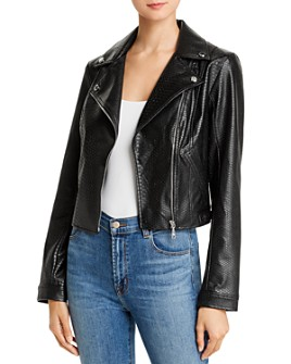 GUESS - Rosetta Viper Faux Leather Moto Jacket