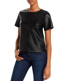 Lucy Paris - Faux Leather Top - 100% Exclusive