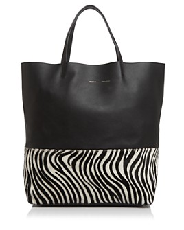 Alice.D - Large Zebra-Print Bottom Tote - 100% Exclusive