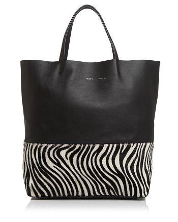 Alice.D - Large Zebra-Print Bottom Tote - 100% Exclusive