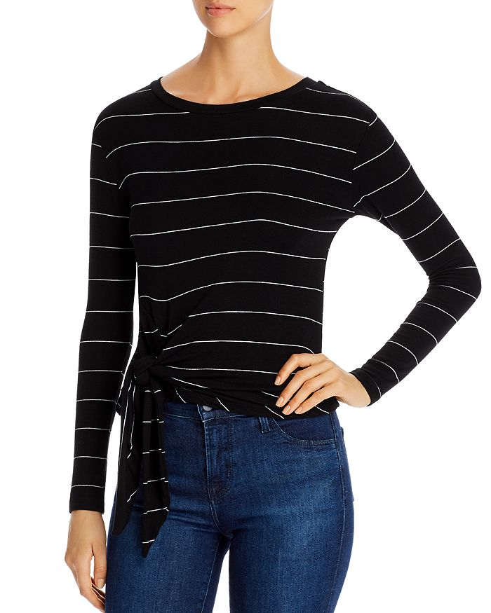 Elan - Tie-Front Long-Sleeve Top