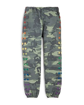 Flowers by Zoe - Girls' Star Print Camo Sweatpants - Little Kid