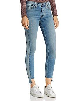 Hudson - Barbara Cropped Skinny Jeans in Headliner