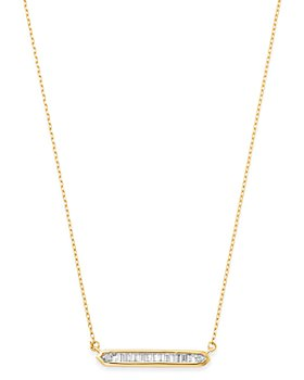 Adina Reyter - 14K Yellow Gold Diamond Bar Necklace, 16""