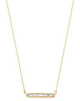 """Adina Reyter - 14K Yellow Gold Diamond Bar Necklace, 16"""""""