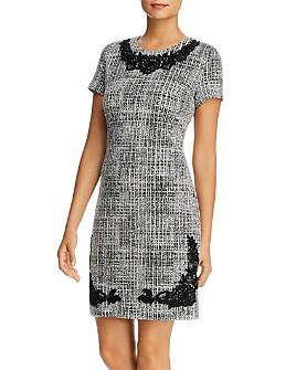 KARL LAGERFELD Paris - Tweed Lace-Trim Dress