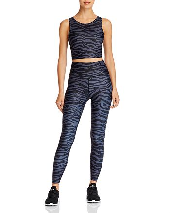 AQUA - Zebra Print Cropped Top & Leggings - 100% Exclusives