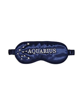 slip - Zodiac Embroidered Silk Eye Mask