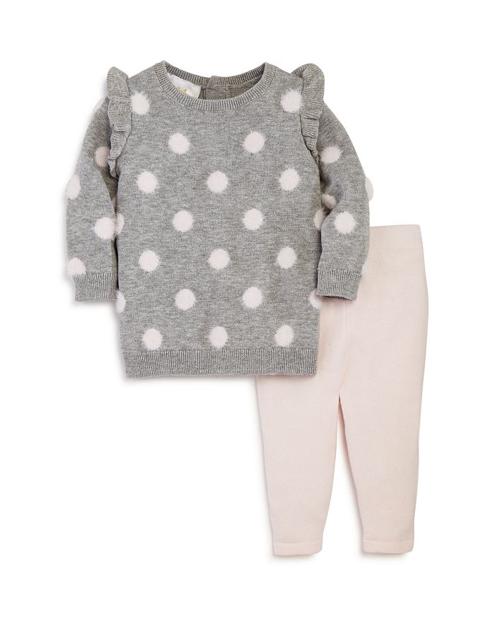 Bloomie's - Girls' Polka Dot Sweater & Leggings Set, Baby - 100% Exclusive