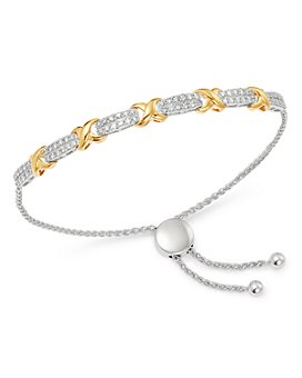 Bloomingdale's - Diamond Bolo Bracelet in 14K Yellow & White Gold, 0.85 ct. t.w. - 100% Exclusive
