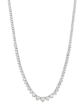 Bloomingdale's - Diamond Tennis Necklace in 14K White Gold, 20.0 ct. t.w. - 100% Exclusive