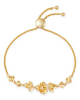 Bloomingdale's - Diamond Flower Bolo Bracelet in 14K Yellow Gold, 0.25 ct. t.w. - 100% Exclusive