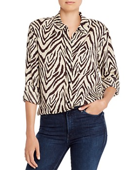 Current/Elliott - The Derby Zebra Print Blouse - 100% Exclusive