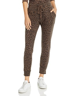 Pistola - Alessa Leopard Print Jogger Pants