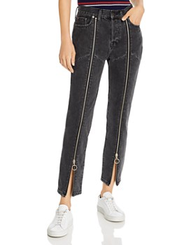 Pistola - Nico High-Rise Zip Straight-Leg Jeans in Charcoal