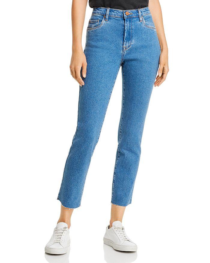 BLANKNYC - High-Rise Straight-Leg Jeans in Varsity Blue