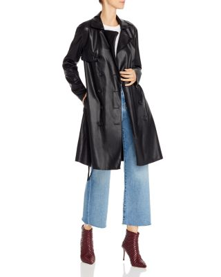 BLANKNYC Faux Leather Trench Coat - 100% Exclusive | Bloomingdale's