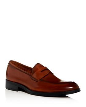 Kenneth Cole - Men's Brock Leather Apron-Toe Penny Loafers