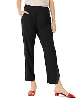 Habitual - Ria Tuxedo-Stripe Straight-Leg Ankle Pants